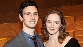 Cory Michael Smith shares a smile with leading lady Amanda Quaid.
