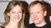 Marin Ireland (Three Sisters) strikes a pose with boyfriend Scott Shepherd, who jumped from Blood Knot at off-Broadway's Signature Center to the return engagement of Gatz at the Public.
