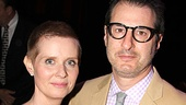 Wit alum Cynthia Nixon and Other Desert Cities playwright Jon Robin Baitz strike a pose on the red carpet.