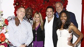 A slew of famous faces line up for a snapshot in the Rainbow Room at the Belasco Theatre: athlete Joe Austin, singer BeBe Winans, reality TV stars Adrienne Maloof and Paul Nassif, publicist Howard Bragman and BeBe's daughter Miya Winans. See what all the excitement is about at End of the Rainbow!