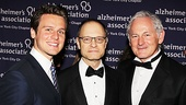 Alzheimer's Association Lifetime Leadership Award winner David Hyde Pierce is flanked by Jonathan Groff, who performed at the gala, and master of ceremonies Victor Garber.