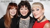 Frances Fisher poses with a pair of former Hairspray Velma Von Tussles: Linda Hart (Broadway) and Tracie Bennett (an Olivier Award winner for the role).