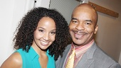 2009 recipient Stephanie Umoh (Ragtime) and Porgy and Bess David Alan Grier enjoy the festivities.
