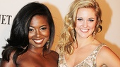 Broadway-bound Bring It On stars Adrienne Warren and Taylor Louderman receive more than one cheer on the red carpet.
