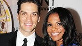Engaged Broadway couple Will Swenson (Priscilla Queen of the Desert) and 2012 Tony winner Audra McDonald (Porgy and Bess) look like they are walking on air.