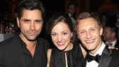 Speaking of Bonnie & Clyde, nominated star Laura Osnes gets between two handsome men—Tony guest John Stamos and her husband, Nathan Johnson.