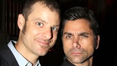 Love this faux serious photo of The Book of Mormon creator Matt Stone and John Stamos!