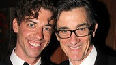 Christian Borle celebrates his Tony win with Peter and the Starcatcher co-director Roger Rees.