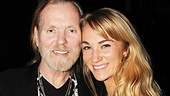 Gregg Allman is all smiles backstage with his new fiance Shannon Williams. 