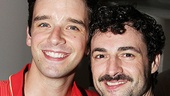 Michael Urie, known for Ugly Betty, congratulates Max von Essen on his performance as Che.