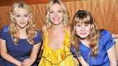 Merrily We Roll Along leading ladies Betsy Wolfe, Elizabeth Stanley and Celia Keenan-Bolger all look lovely in their summer fashions.