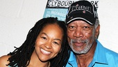 Of course Crystal A. Dickinson is excited to meet Morgan Freeman, the man has played God—twice!