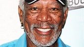 Morgan Freeman grins for our camera after taking in Bruce Norris' Tony-winning comedy of real estate and race relations.