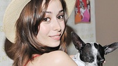 Beautiful Once star Cristin Milioti poses for a glam parting shot. Looks like we found the ad for Broadway Barks 15!