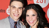 Dogfight stars Derek Klena and Lindsay Mendez sparkle together as they pose for an opening night portrait.