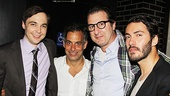 Harvey star Jim Parsons and Other Desert Cities playwright Jon Robin Baitz (joined by his boyfriend David Tripp) wouldn't miss a chance to celebrate their friend and collaborator Joe Mantello.