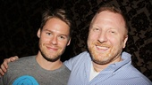 Book writer Hunter Bell (r.) welcomes Queer as Folk star Randy Harrison to the Silence! family as Dr. Chilton.