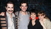 Starcatcher's Matthew Saldivar, Adam Chanler-Berat and Celia Keenan-Bolger are delighted to have a legend like Liza Minnelli in their midst.