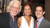 Two-time Tony nominee Terrence Mann joins director/choreographer Andy Blankenbuehler and his wife Elly on the red carpet.