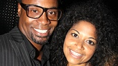 Talented twosome Billy Porter (coming in Kinky Boots) and Rebecca Naomi Jones (recently in American Idiot) pose together.