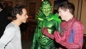 Anthony, the Green Goblin and Spider-Man himself share a laugh backstage.