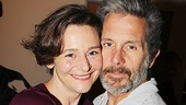 Castmates Jenny Bacon and Gary Cole go cheek-to-cheek for a celebratory photo.