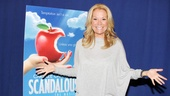 Newly minted Broadway lyricist and book writer Kathie Lee Gifford celebrates Scandalous with the press.