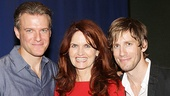 Edward Watts poses with fellow cast members Candy Buckley and Andrew Samonsky.