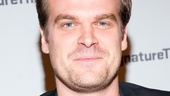 David Harbour, who plays Elliott Hirsch on TV's The Newsroom and is Broadway-bound in Glengarry Glen Ross, looks dapper on opening night.