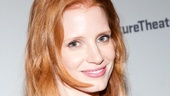 Academy Award nominee Jessica Chastain, who is gearing up to make her Broadway debut in The Heiress, is a vision in pink.