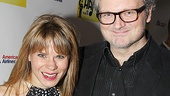 Peter and the Starcatcher's Celia Keenan-Bolger and husband John Ellison Conlee (off-Broadway-bound in Murder Ballad) wear black and white for the occasion.
