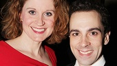 Christiane Noll, who plays Hannah Chaplin, strikes a pose with her stage son Rob McClure.