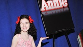 Eleven-year old Lilla Crawford will take on the title role in this hotly awaited musical revival. Loving the touches of Annie red in Lilla's dark hair!
