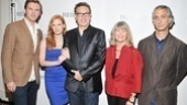 Co-stars Dan Stevens, Jessica Chastain, Judith Ivey and David Strathairn flank their beloved director, Moises Kaufman.