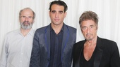 Dan Sullivan poses with Glengarry Glen Ross headliners Bobby Cannavale and Al Pacino.
