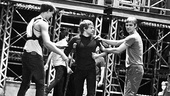 Newsies Backstage- Mike Faist- Andrew Keenan-Bolger-Brendon Stimson