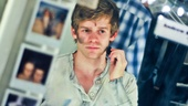 "Andrew Keenan-Bolger adds a few finishing touches before heading to ""places."""