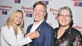 Paige Price pins honoree Ira Mont, who brought his wife and fellow stage manager Jill Cordle, to the gala.