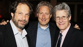 Ghostlight's Kurt Deutsch, MCC honcho Bernard Telsey and Rogers & Hammerstein Organization's Ted Chapin marvel over Carrie's terrific cast recording.