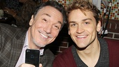 Cyrano's Patrick Page and Bring It On's Neil Haskell take our photo as we take theirs.