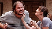 Daniel Everidge as Josh and Julia Murney as Tami in Falling.