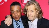 Longtime company members-turned screen stars Giancarlo Esposito and William H. Macy pal around at the celebration.