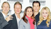 Cast members Gregg Edelman, Will Chase, Stephanie J. Block, Andy Karl and Betsy Wolfe are ready for their close-ups.