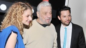 The man of the hour! Molina and Tam flank their show's legendary composer, Stephen Sondheim.