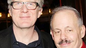 Star Tracy Letts and producer Jeffrey Richards celebrate on opening night.