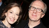 Newly minted Broadway stars Carrie Coon and Tracy Letts unwind at the party after their thrilling performance.