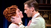 Carolee Carmello as Aimee Semple McPherson and Andrew Samonsky as Kenneth Ormiston in Scandalous.