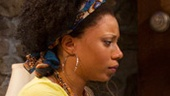 Shalita Grant as Cassandra and Kristine Nielsen as Sonia in Vanya and Sonia and Masha and Spike.