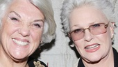 Cagney & Lacey pals Tyne Daly and Sharon Gless arrive on the scene to figure out the mystery behind the dark comedy Grace.