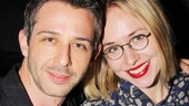 The Great God Pan alums Jeremy Strong and Sarah Goldberg reunite at the Heiress party.
